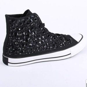 Black rhinestone Converse